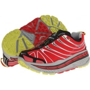 Hoka Stinson Trail Running Shoes Red/Light Grey/Black Mens