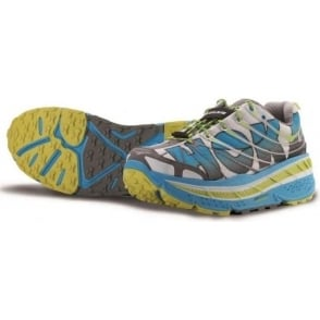 Hoka Stinson Trail Running Shoes White/Cyan/Citrus Mens