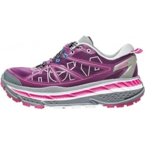 Hoka Stinson ATR Trail Running Shoes Plum/Grey/Fuschia Womens
