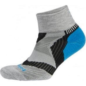 Balega Enduro V-Tech Quarter Running Socks Grey/Turquoise/Black