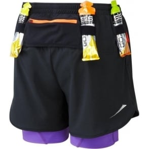 Ronhill Trail Fuel Twin Short Black/Royal Purple Womens