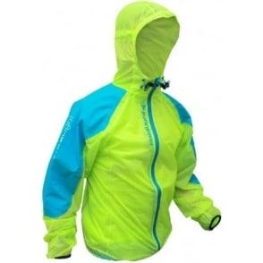 Raidlight Top Ultralight Waterproof Jacket Lime Green/Electric Blue Mens