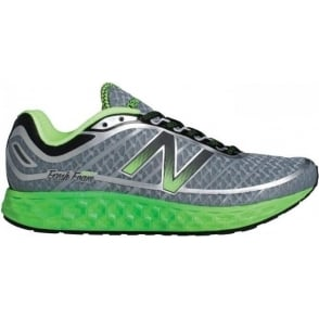 New Balance 980 Fresh Foam V2 Road Running Shoes Grey/Green (D WIDTH) Mens