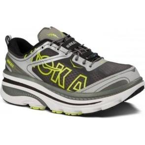 Hoka Bondi 3 Road Running Shoes White/Silver/Citrus Mens