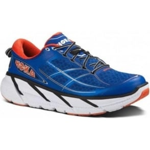Hoka Clifton 2  Mens  True Blue / Orange Flash
