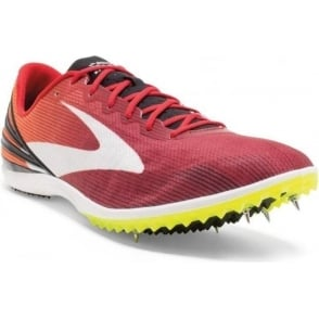 Brooks Mach 17 Spikes Red Mens
