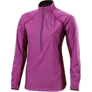Mizuno Breath Thermo Hyper Wind Top Wild Aster/Fig Womens