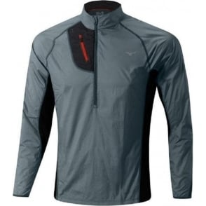Mizuno Breath Thermo Hyper Wind Top Dark Slate/Black Mens