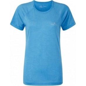 Ronhill Aspiration Motion Short Sleeve Tee Sky Blue Womens