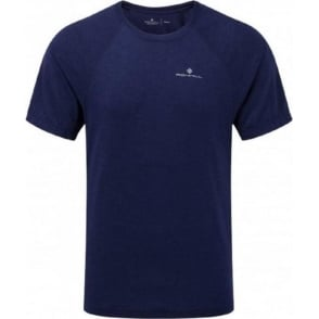 Ronhill Advance Motion Short Sleeve Tee Midnight Blue Mens