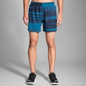 "Brooks Sherpa 5"" Short River Blur Mens"