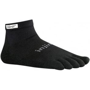 Injinji Socks Run Original Weight Mini Crew Black Running Toe Socks