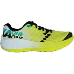 Hoka Clayton Mens Road Running & Racing Shoes Citrus/White