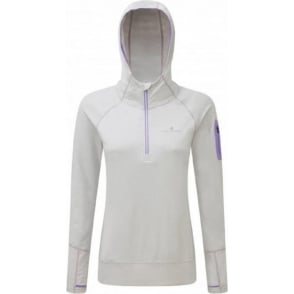 Ronhill Aspiration Victory Hoodie Cloud Marl/Lilac Womens