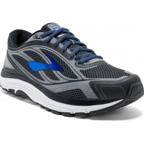 Dyad 9 Mens 2E (WIDE WIDTH) Road Running Shoes Asphalt/Electric Brooks Blue/Black