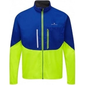 Ronhill Windlite Mens Running Jacket Cobalt/Fluo Yellow