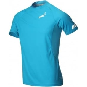 Inov8 AT/C Base Short Sleeve Tee Blue Mens