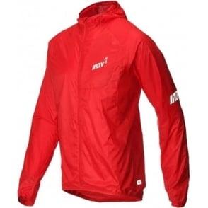 Inov8 AT/C Windshell Full Zip Mens Running Jacket Red