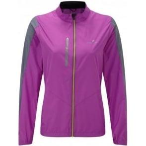 Ronhill Stride Windspeed Jacket Womens Thistle Purple/Granite