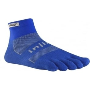 Injinji Socks Run Original Weight Mini Crew Mariner Blue Running Toe Socks
