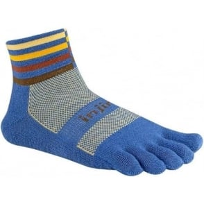 Injinji Socks Trail Midweight Mini Crew Running Toe Socks Desert