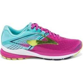 Brooks Ravenna 8 Womens B (STANDARD WIDTH) Road Running Shoes Very Berry/Aqua Splash/Lime Punch