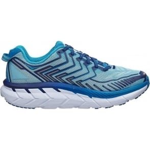 Hoka Clifton 4 Womens Road Running Shoes Blue Topaz/Imperial Blue