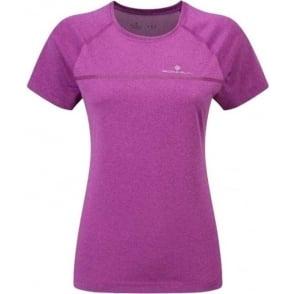 Ronhill Everyday Short Sleeve Running T-shirt Thistle Purple Marl