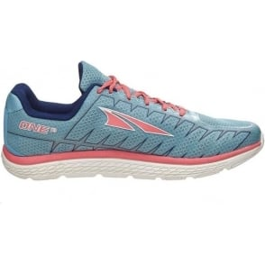 Altra One V3 Womens Zero Drop Road Running Shoes Blue/Coral