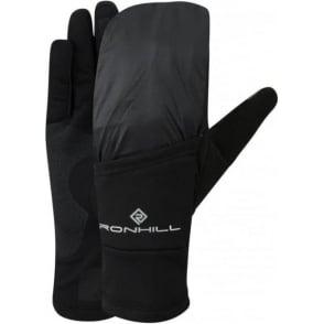 Ronhill Wind-block Flip Running Gloves (with Mitten) All Black