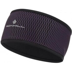 Ronhill Wind-block Headband Black/Grape Juice