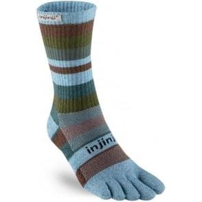 Injinji Socks Trail Midweight Crew Unisex Running Toe Socks - Stellar