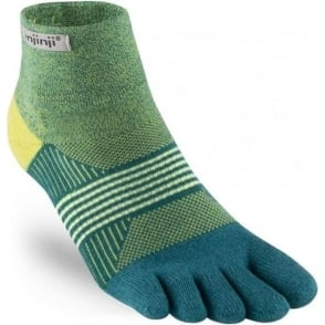 Injinji Socks Trail Midweight Mini-Crew Womens Running Toe Socks - Parakeet