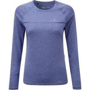 Ronhill Everyday Womens Long Sleeve Running T-shirt Dark Sapphire Marl