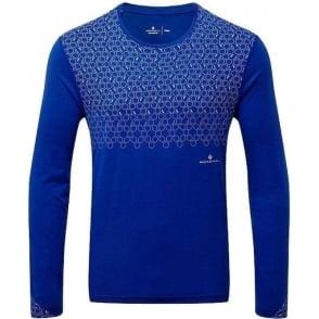 Ronhill Momentum Sirius Mens Long Sleeved Running T-shirt Cobalt Blue