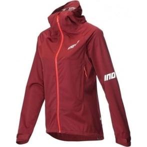 Inov8 AT/C Raceshell Full Zip Womens Running Jacket Dark Red/Coral