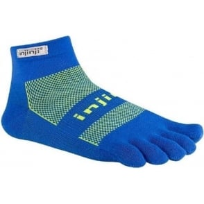 Injinji Socks Run Original Weight Mini Crew Charged Blue Running Toe Socks