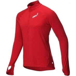 Inov8 AT/C Long Sleeve Mens Running Mid Layer Dark Red