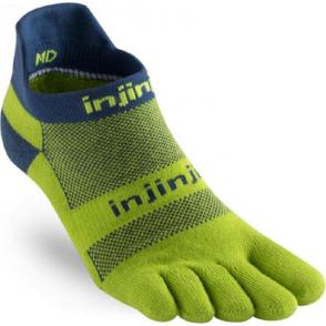 Injinji Socks Run Midweight No Show Running Toe Socks Pistachio