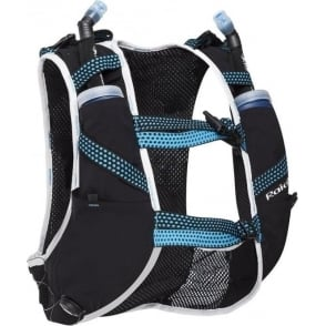 Raidlight Mens Running Hydration Vest 10L Grey/Electric Blue (2x 600ml Flasks Included)