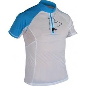 Raidlight Ultralight Mens Short Sleeve Running Top White/Electric Blue
