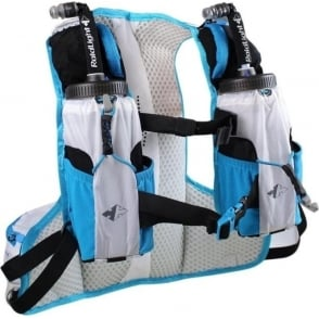 Raidlight Ultra Legend 5L Running Hydration Vest White/Electric Blue