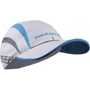 Raidlight R-Light Mens Breathable Running Cap with Vents White/Electric Blue