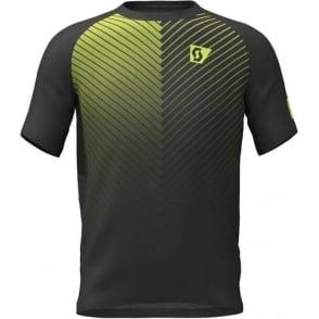 Scott RC Run Mens Seamless Breathable Short Sleeve Running T-Shirt Black/Yellow