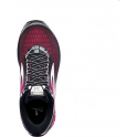 Brooks Ghost 10 Womens D (WIDE WIDTH) Road Running Shoes Black/Pink Peacock/Living Coral