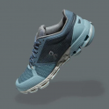 ON Cloudflyer Womens Stability Road Running Shoes Aqua/White