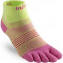 Injinji Socks Run Lightweight Mini Crew Pink Womens Running Toe Socks