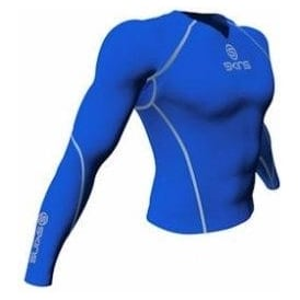 Skins Mens Long Sleeve Top Royal Blue
