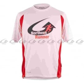 Northern Runner Breathable Running T-Shirt White/Red