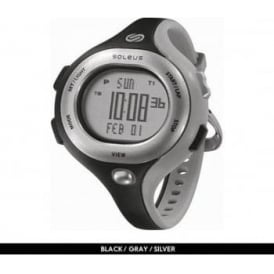 Soleus Chicked Running Watch Black/Grey/Silver
